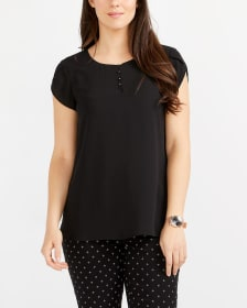 Tulip Sleeve Solid Blouse