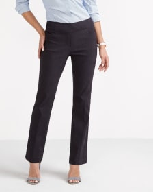 The Petite Iconic Boot Cut Solid Pants