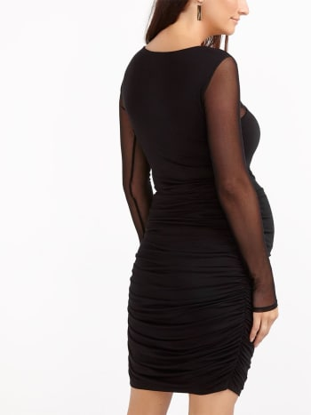Stork & Babe - Bodycon Maternity Dress with Mesh