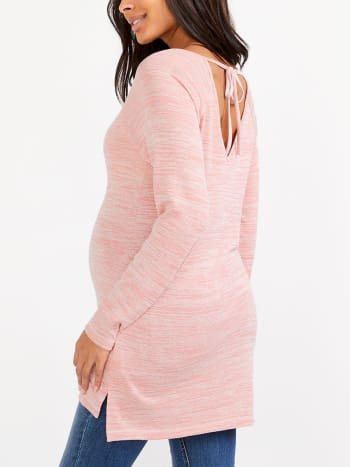 Knit Nursing Tunic with Back Tie