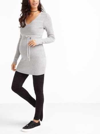 Ribbed Maternity Sweater Tunic