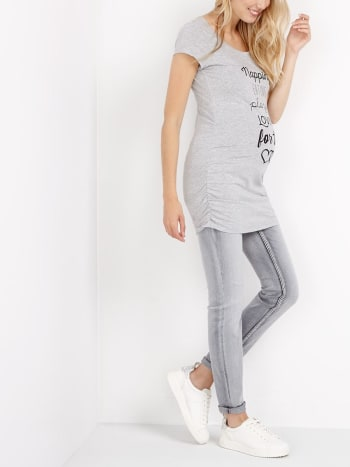 Tall Grey Skinny Maternity Jean