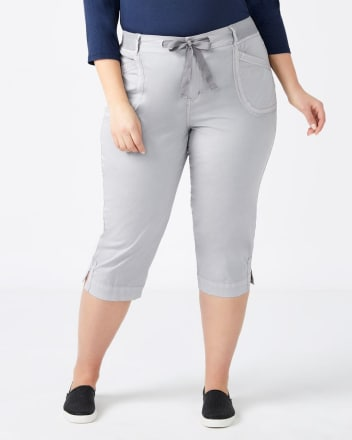 Cotton Capri with Drawstring - d/C JEANS