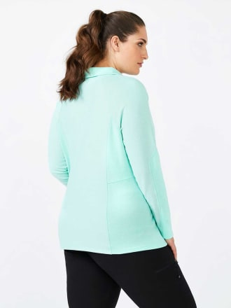 Sports - Plus-Size Long Sleeve Polo Shirt