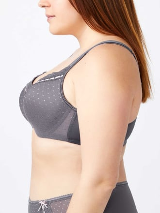 Printed Padded T-Shirt Bra with Lace, G&H Cups - ti Voglio