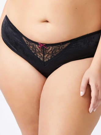 Satin Hipster Panty with Lace - Ti Voglio