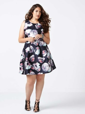 Fit and Flare Floral Print Dress