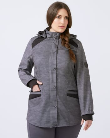 ActiveZone - Plus Size Soft Shell Jacket
