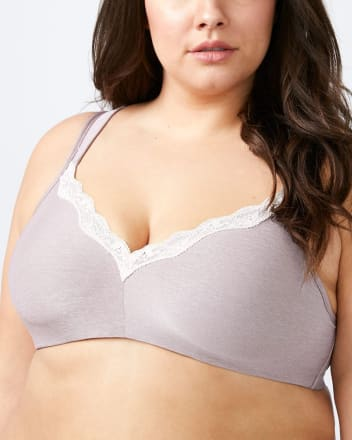 Padded Wirefree Bra with Lace - ti Voglio