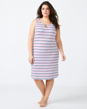 Striped Sleep Chemise - ti Voglio