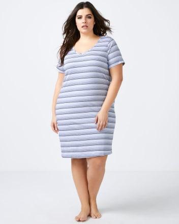 Striped Cotton Sleepshirt - ti Voglio