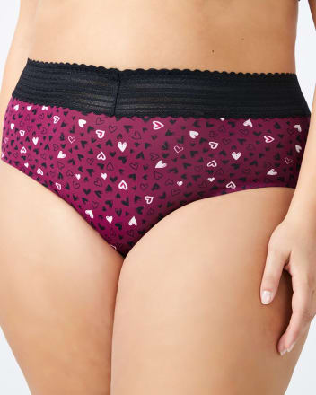 Printed Brief Panty with Lace Trim - Ti Voglio