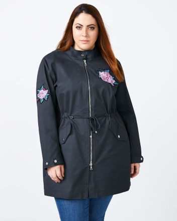 d/c JEANS - Embroidered Military Parka