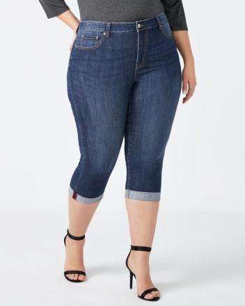 Slightly Curvy Fit Denim Capri - d/C Jeans