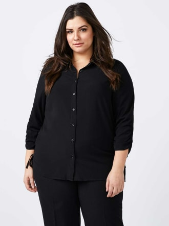 Button Up Blouse with Lace Up Detail - In Every Story
