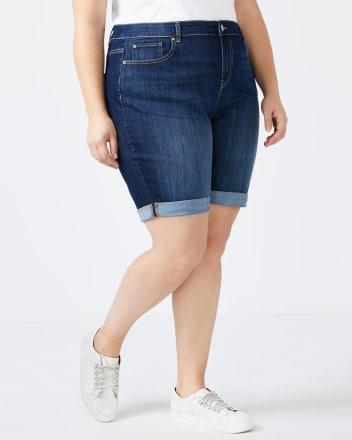 d/c JEANS - Petite Curvy Fit Bermuda Jean Short