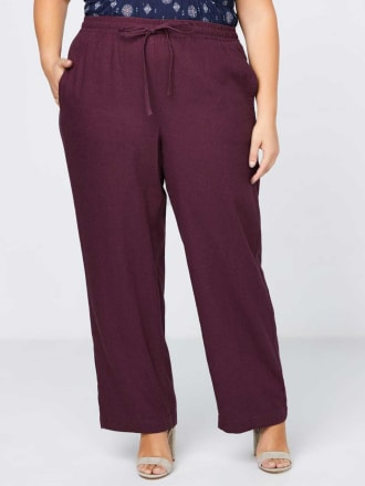Linen Pant with Elastic Waistband - In Every Story