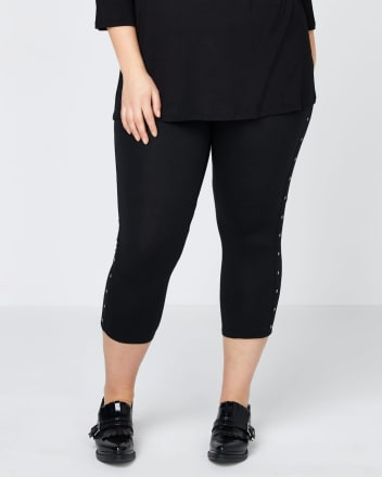 Capri Legging with Metallic Eyelets