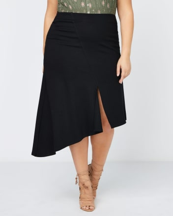 Asymmetric Skirt with Slit - In Every Story