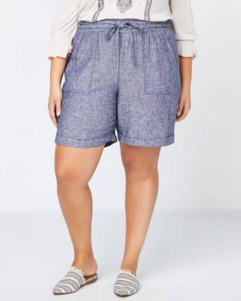 Linen Short with Elastic Waistband - In Every Story