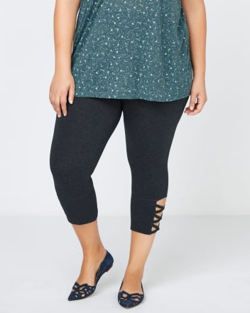 Capri Legging with Criss Cross Detailing