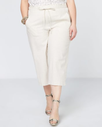 Linen Capri with Drawstring - In Every Story
