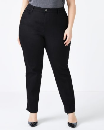 Straight Fit Straight Leg Black Jean - d/C JEANS