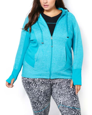 Essentials - Plus-Size Colour Block Hoodie