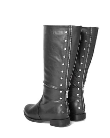 Wide-Width Wide Calf Tall Faux-Leather Boots