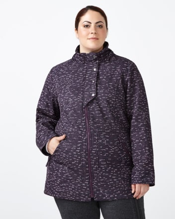 ActiveZone Plus-Size Softshell Hooded Jacket