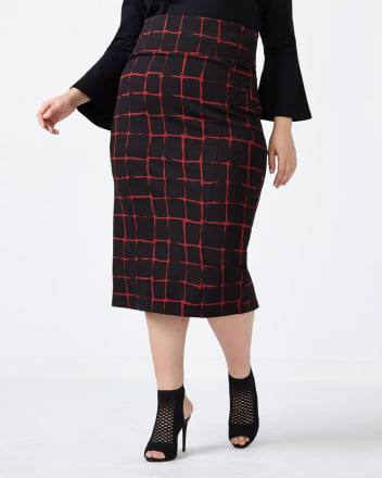 MELISSA McCARTHY Printed Pencil Skirt