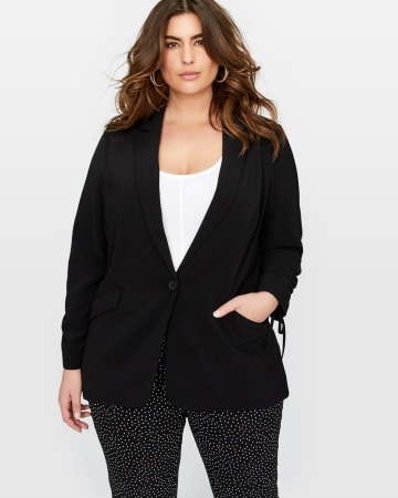 Michel Studio Jacket with Drawstring