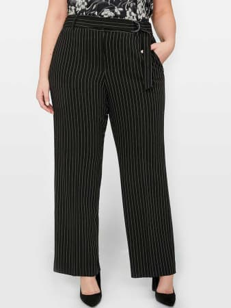 Vintage High Waisted Trousers, Sailor Pants, Jeans Michel Studio Pinstripe Pant $78.00 AT vintagedancer.com