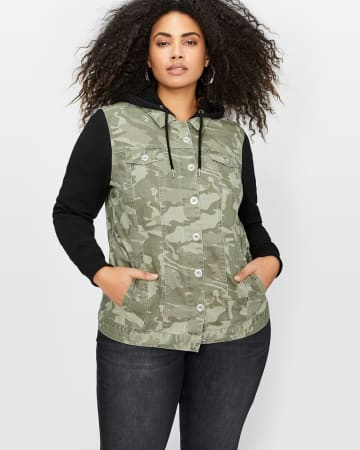 L&L Camo Jacket with French Terry Hood & Sleeves.Sea Turtle Camo.12 30289303
