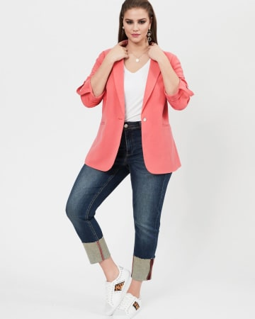 Michel Studio Blazer with Rolled Up Sleeves