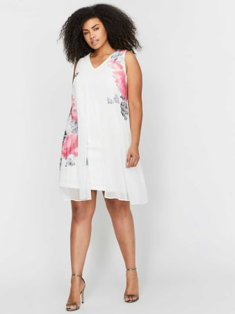 Michel Studio Printed Sleeveless Dress