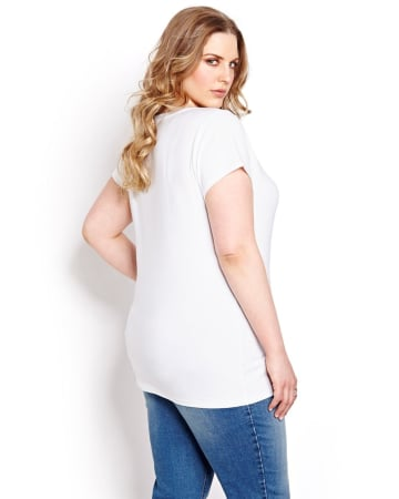 Basic Fitted Real Deep V-Neck Tee