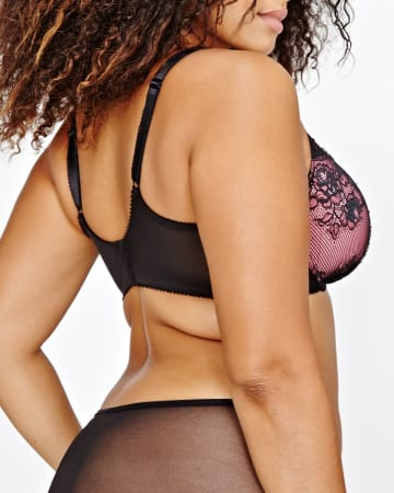 Vixen Balconet Bra with Lace & Ruching - Déesse Collection