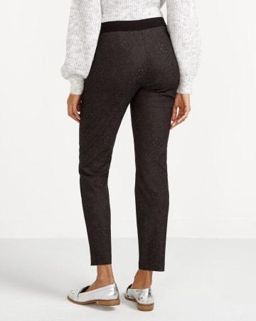 Petite Printed Skinny Pants