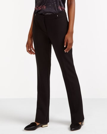 Solid Boot Cut Pants