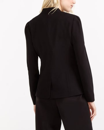 Pleated Sleeve Blazer
