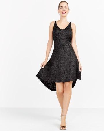 High-Low Hem Embellished Dress