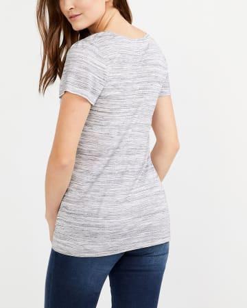 T-shirt chiné à paillettes