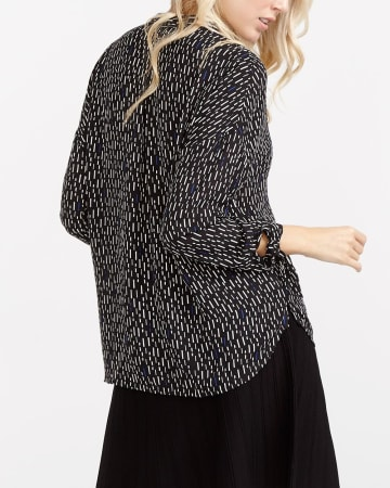 Willow & Thread Knot Cuff Printed Shirt
