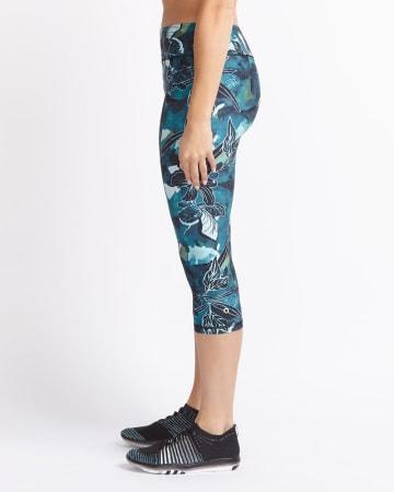 Hyba Printed Yoga Capri Legging