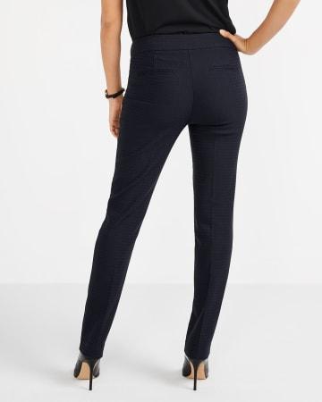 Pantalon à chevrons et jambe droite L'Iconique