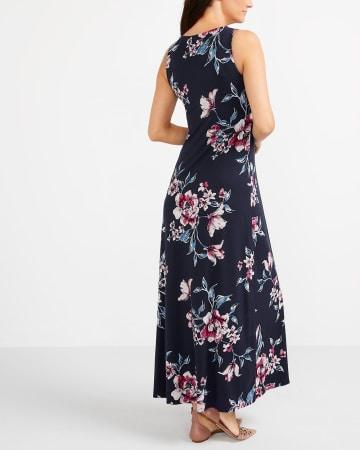 Sleeveless Printed Maxi Dress