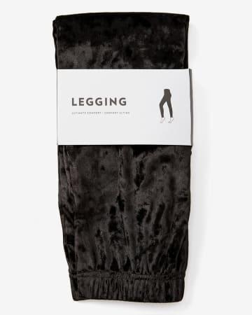 Legging en velour froissé