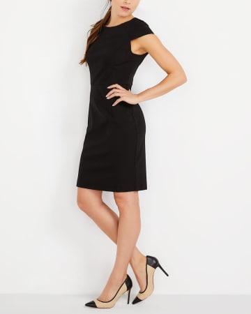 Cap Sleeve Solid Dress