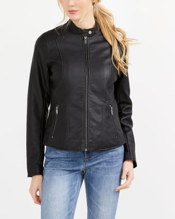 Perforated Moto Jacket